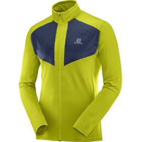 Salomon Grid Jacket Men yellow/blue